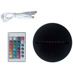 Base LED redonda Negra