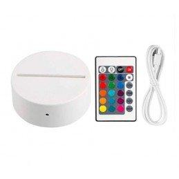 Base LED redonda Blanca