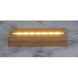 Base LED Madera Rectangular